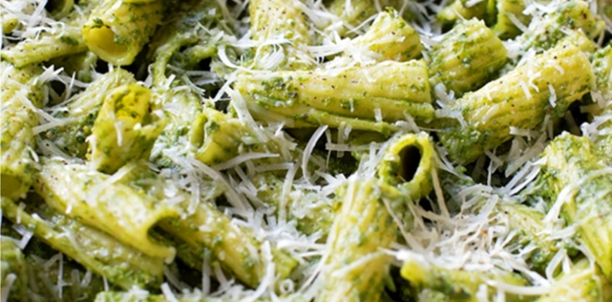 Veges and Pasta Baked in Green Sauce
